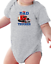 Details about  /Infant Creeper Bodysuit One Piece T-shirt My Dad Is A Trucker Truck Driver k-361