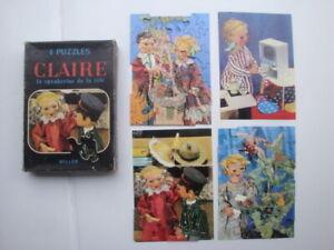 Puzzle-ancien-serie-ORTF-poupee-CLAIRE-la-speakrine-de-la-tele-WILLEB