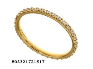 Anello oro giallo 18 kt solitario matrimonio con zircone brillante donna cm.0.2