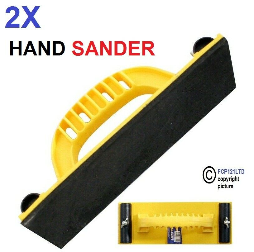 2pcs Hand Grip Sand Paper Frame Handheld Sandpaper Holder Polishing Blocking
