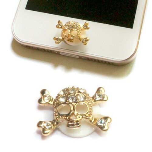 NEW 3D Skull Rhinestone Alloy Home Button Sticker For Apple iPhone 5 5S 5C 4S 3