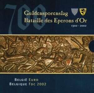 Belgium-KMS-Coin-Set-2002-700-years-Guilder-pores-Battle
