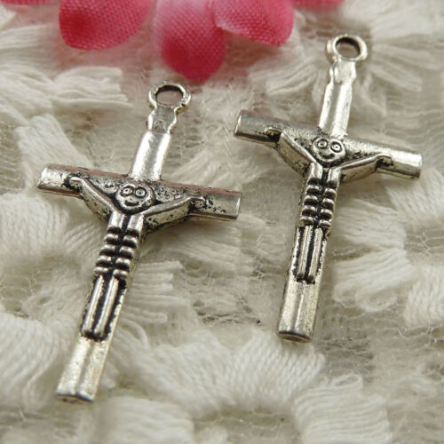 free ship 70 pieces Antique silver cross charms 30x16mm #4292