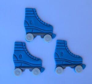 12 Edible Rollerskate Cake Cupcake Topper Decoration Roller Skate