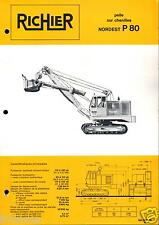 ▬►Prospectus de 1969 RICHIER PELLE CHENILLES NORDEST P80 NO POCLAIN