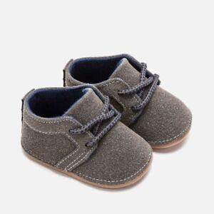 huge discount 8a64b f0eaa Dettagli su scarpe scarpine scarpette culla polacchino grigio lacci neonato  baby mayoral