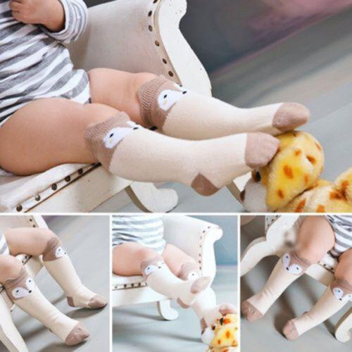 Cute Baby Toddler Girl Boy Soft Leggings Warmer Leg Warmers Knee Long Socks Gift
