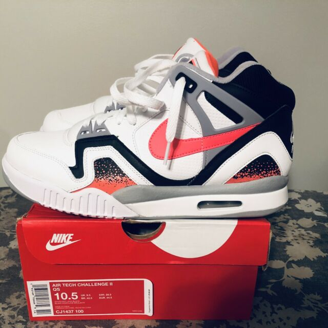 589a984e7d9 2019 Nike Air Tech Challenge II Hot Lava/White - Andre Agassi- Size 10.5 -  New
