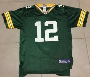 YOUTH-Brett-Favre-4-sz-XL-Reebok-Green-Bay-Packers-Jersey-Green-football-green