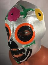 DAY OF THE DEAD CATRINA! WRESTLING-LUCHADOR MASK!!LA MUERTE! GREAT HANDMADE MASK