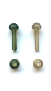 Chod Beads Helicopter Rigs x10 Trans Green Trans Brown Clear Carp Fishing