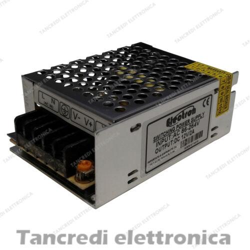 ALIMENTATORE STABILIZZATO TRASFORMATORE 24W 2A 12V Input AC100V-240V 2.1A