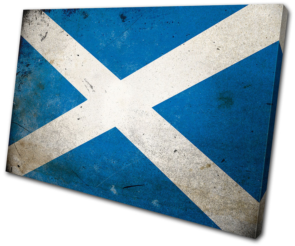 Maps Flags Abstract Scottish SINGLE TELA parete arte foto stampa