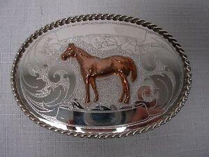 vintage german silver amp gold western cowboy rodeo trophy w