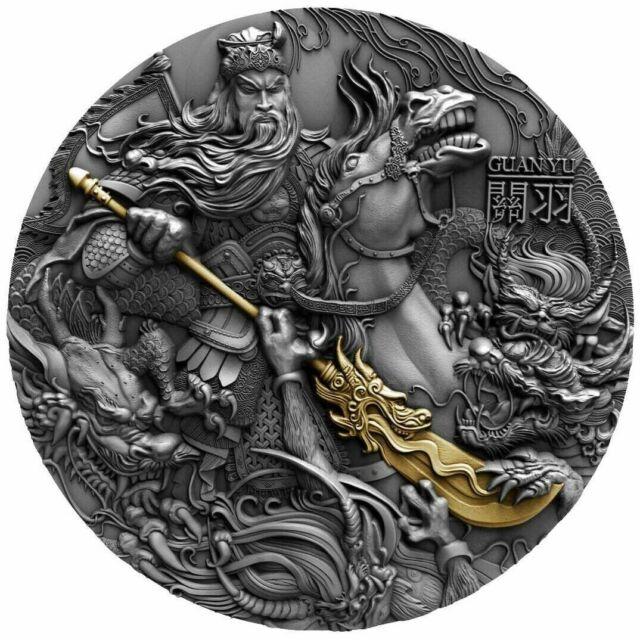 GUAN YU Chinese Heroes 2 oz Silver Coin  Niue