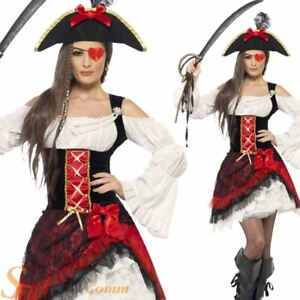 Ladies-Glamorous-Pirate-Costume-Sexy-Caribbean-Sailor-Fancy-Dress-Adult-Outfit