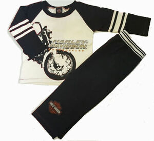 4a568b0d9 Image is loading Harley-Davidson-Motorcycles-Toddler-Boy -Fleece-Outfit-Shirt-