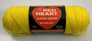 1-SKEIN-OF-RED-HEART-SUPER-SAVER-ACRYLIC-YARN-3-OZ-BRIGHT-YELLOW