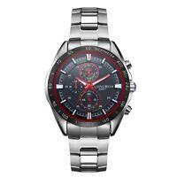 LONGBO Men's Stainless Steel Military Waterproof Army Sport Quartz Wrist Watch