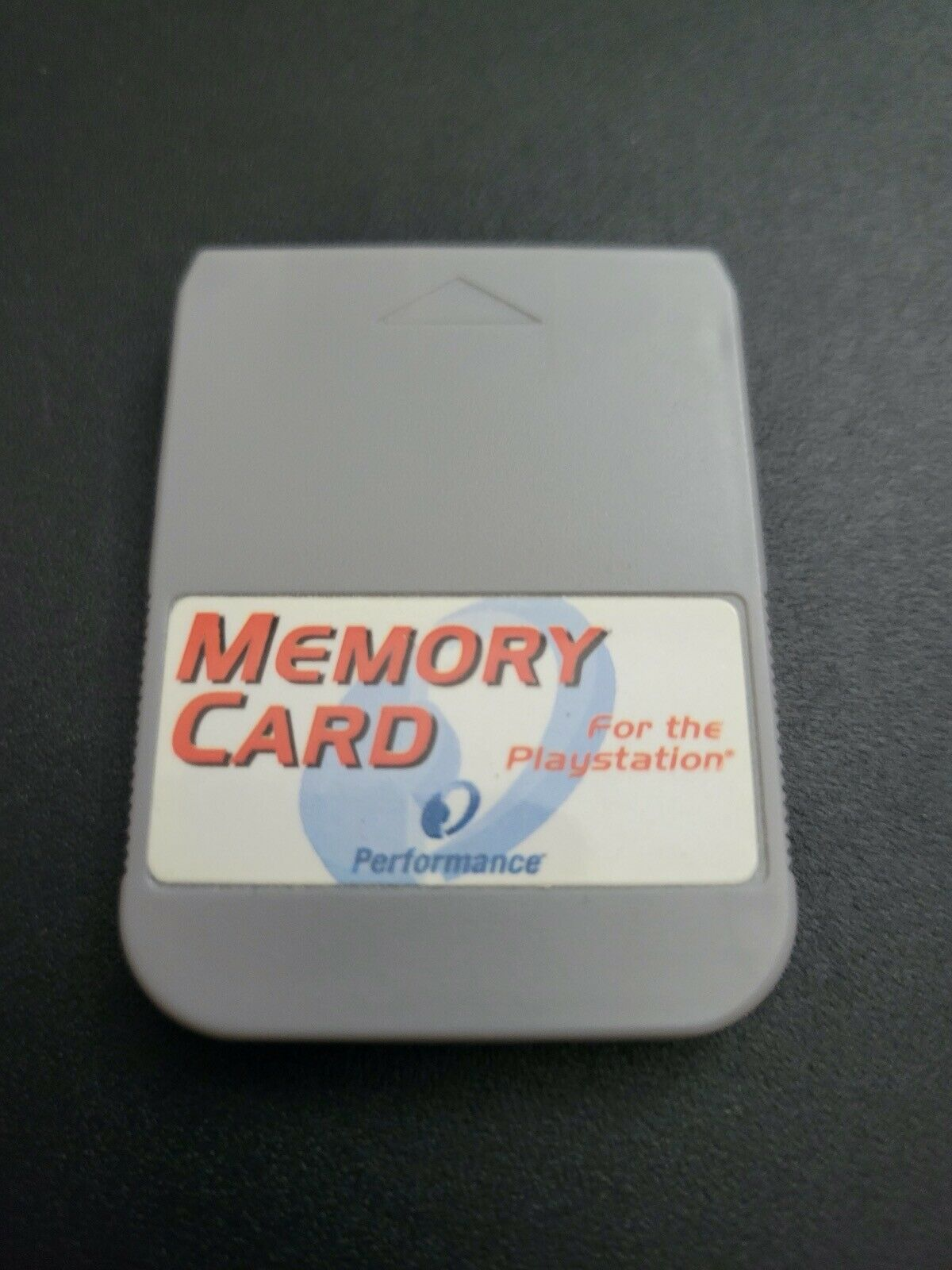 Performance Gray/White 1MB Sony Playstation 1 PS1 Memory Card Vy Good Condition