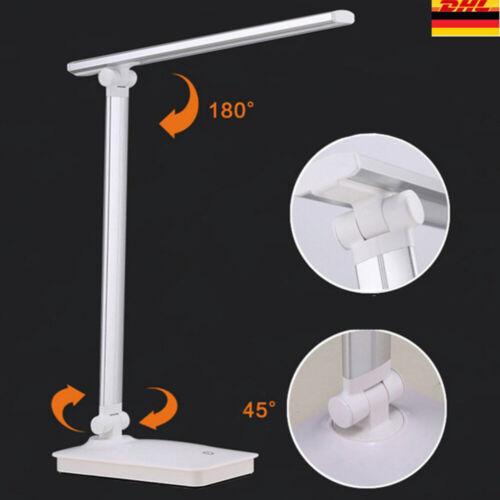 dimmbar LED Tisch-Leuchte USB Schreibtisch-Lampe Büro Touch Leselampe Nachttisch