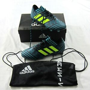 ea8485c8d75e Adidas Nemeziz 17.1 FG Firm Ground Soccer Cleats Black Blue Sz 12 US ...