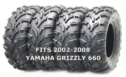 Set of 4 WANDA ATV//UTV Tires 25X8-12 25X10-12 for 2002-2008 YAMAHA GRIZZLY 660