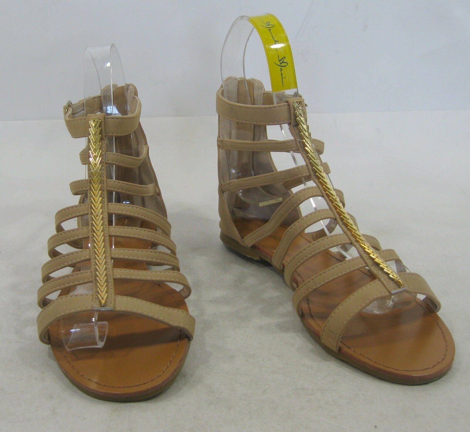 Summer Skintone/Gold Sexy Womens Shoes Roman Gladiator Sexy Skintone/Gold Sandals Size 7.5 bd052c