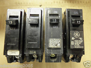 GE THQL THQL1115 1 pole 15 amp Circuit Breaker old style   eBay