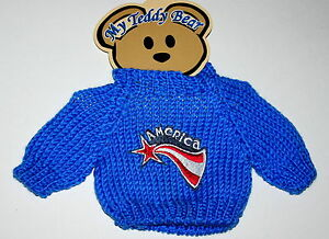 America-Plush-Toy-Teddy-Bear-Knit-Sweater-Outfit-fits-11-13-inch-New-MOC
