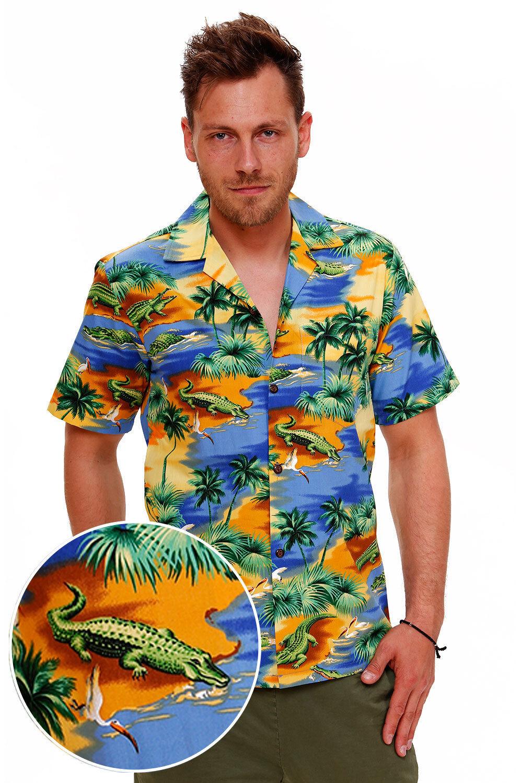 PLA Original Hawaiihemd Hawaiian Shirt KROKODIL made in Hawaii    Reparieren