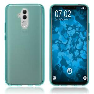 Coque-en-Silicone-Huawei-Mate-20-Lite-transparent-turquoise-Cover