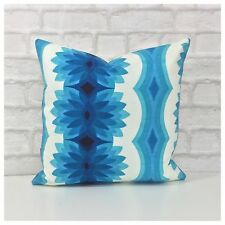 Original Vintage Blue  Psychedelic Fabric Cushion Cover
