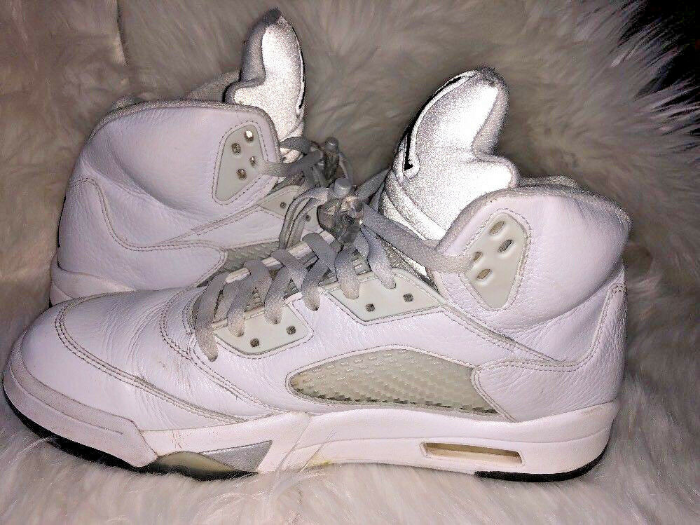 2324d969f39 Air Jordan 5 V White Metallic Silver 136027-130 Size 12 Retro ...