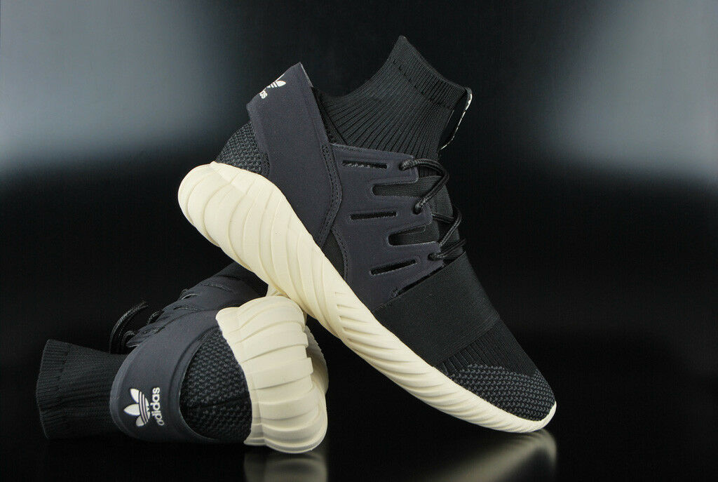 ADIDAS ORIGINALS TUBULAR DOOM PRIMEKNIT CORE BLACK Weiß HIGH TOP SNEAKER SCHUHE