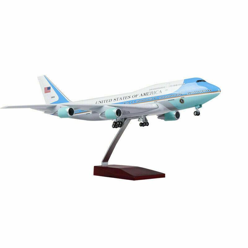 47cm 1 150th Aircraft Förlaga USA Air Force One Airplan W Base Model Toy