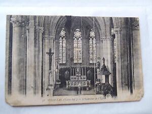 CPSM-Missilac-Loire-inf-Innenseite-der-Kirche