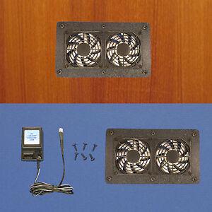 Enclosed-AV-Cabinet-Cooling-fan-system-multi-speed-fan-control