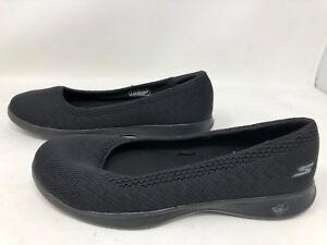 WOMEN'S SKECHERS GO STEP LITE Black 14736 Slip On Athletic