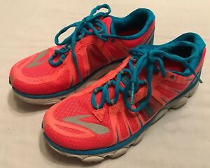 6ae29fa4986 EUC! Womens Brooks Limited Pureflow Hot Pink Blue Athletic Sneakers ...