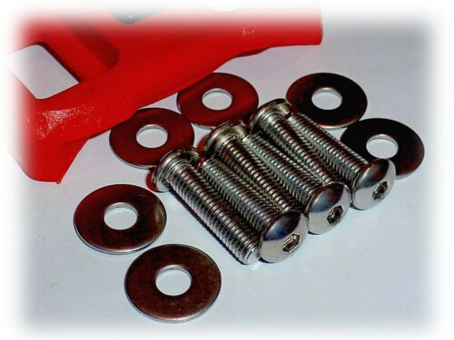 20mm Long Bicycle Shoe Cleat Attaching Bolt Set • Look Style • 6 Stainless Steel