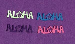 """""""ALOHA""""  die cuts scrapbook cards"""