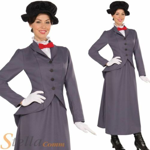 Ladies Victorian Nanny Teacher Adult Fancy Dress Costume Womens Outfit