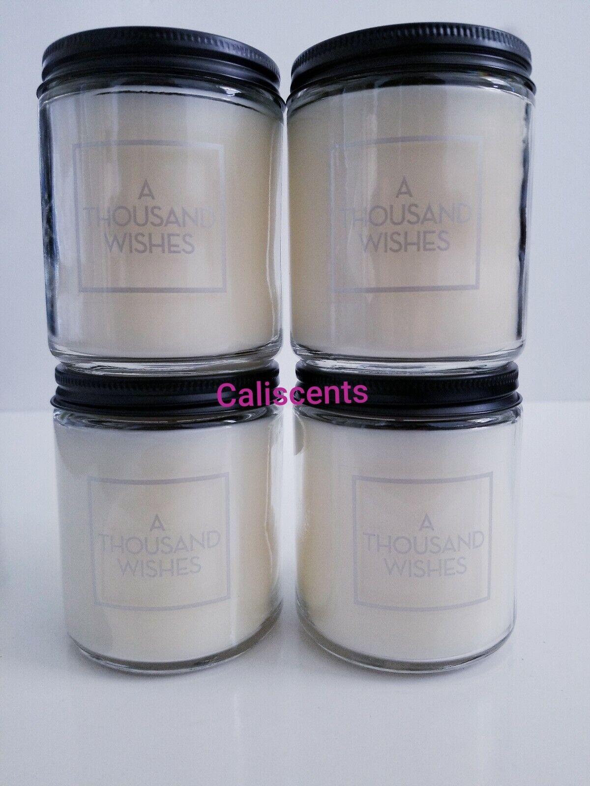 Bath & Body Works A THOUSAND  WISHES 7 oz Candles  Burns 20-30 Hrs X4  Ltd Etd
