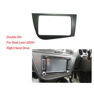 Radio-Fascia-for-Seat-Leon-2-Din-Stereo-Panel-Dash-Adaptor-DVD-Trim-Kit-Frame
