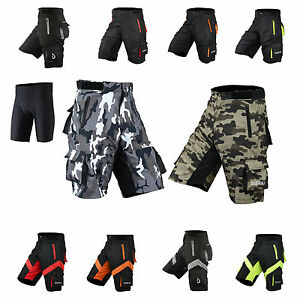 Mens-Cycling-MTB-Shorts-Coolmax-Padded-Off-Road-Shorts-with-inner-liner