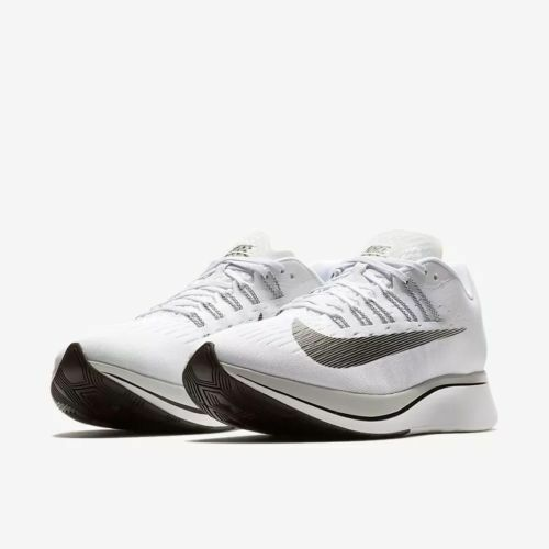 Mens Nike Zoom Fly 880848-100 White Black-Pure Platinum NEW Size 7
