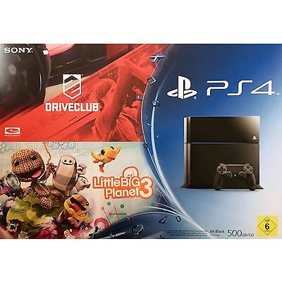 PlayStation 4 500GB inkl. DriveClub & Little Big Planet 3 !!NEU + OVP!!