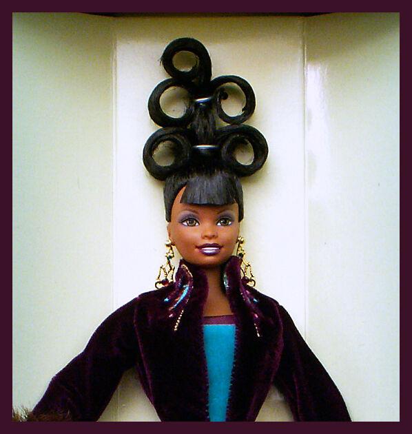 Plum Royale pista serie Byron Lars Barbie Muñeca AA afroamericano en muy buena condición