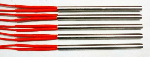 5PCS AC110V 300W 9.5mm x 80mm Single-ended Mold Heating Tube Rods Wire 260mm